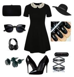 Black formal fancy by gottalottaprada on Polyvore featuring polyvore, fashion, style, George, Dolce&Gabbana, Sergio Rossi, Eva Fehren, Topshop, Beats by Dr. Dre and clothing