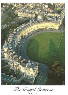 Bath Royal Crescent Oh The Places You'll Go, Places To Visit, Fairy Pools, Holiday Places, World Pictures, Historical Architecture, Aerial View, Great Britain, Old Photos