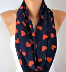 Heart infinity scarf $17 #Valentinesday