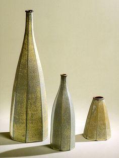 EMILY MYERS Ochre faceted bottles: 1999