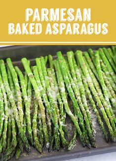 This Parmesan Baked Asparagus recipe is a quick and easy side dish that's perfect for dinner. You can't go wrong with cheesy asparagus! Asparagus Recipes Oven, How To Cook Asparagus, Shrimp Recipes, Veggie Recipes, Chicken Recipes, Cooking Recipes, Healthy Recipes, Fresh Asparagus, Roasted Asparagus Parmesan