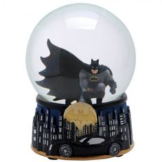 Batman at Night 85mm Water Globe!  It may be hard to see him at night, but at least you can commemorate him whenever you want with this officially licensed water globe. This water globe features Batman as he looks as he's in the sky looking over Gotham to protect.  Available for 34.99!
