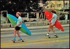 Jay Adams and Tony Alva, going surfing.