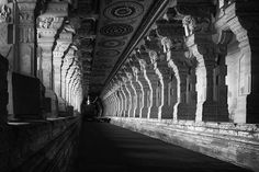 The Sacred Way: Ramanathaswamy Temple, in Rameshwaram, India, has the longest corridors of any building in the world.