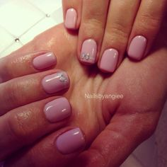 Simple gel nail design with bow#nailart#gel