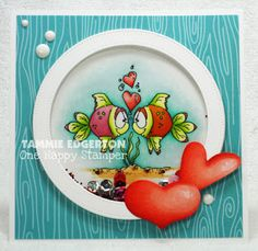 Hey there, here's card number two for this week's CAS challenge, Won't You Call Me Sweetheart. This is such an adorable image from Whipper Snapper Designs! I decided to make a shaker card for this o Valentine Crafts, Valentine Day Cards, Valentines, Anniversary Crafts, Cat Cards, Shaker Cards, Animal Cards, Digi Stamps, Copics