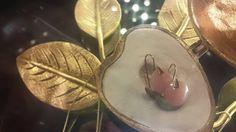 Orecchini Dalia oro 9kt opale rosa Atelier VM Excelsior Milano