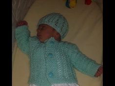 How to knit newborn baby sweater for beginners - YouTube