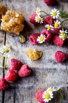 Salted Chamomile Honey Cakes with Raspberry Ripple Cream | halfbakedharvest.com @hbharvest