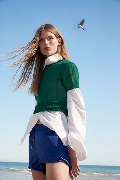 Publication: Costume Magazine. Photography: Olivia Frölich. Styled by: Camilla Larsson. Hair: Lasse Pedersen. Makeup: Marie Thomsen. Model Adela Stenberg.