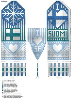 Nordic Yarns and Design since 1928 Knitted Mittens Pattern, Knit Mittens, Knitted Shawls, Mitten Gloves, Knitting Socks, Knitting Charts, Knitting Patterns, Bag Pattern Free, Fair Isle Knitting