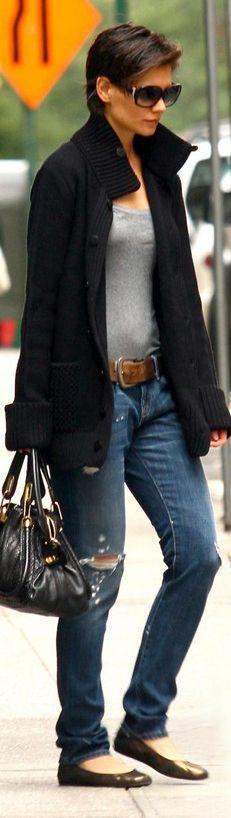 Katie Holmes wearing Current/Elliott