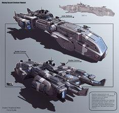 concept spaceship art design by Alexey Pyatov aka KaranaK