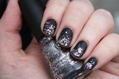 Nail-art – matte glitter