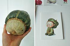 Fruit and Veg-based character design