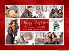 Merry & Bright Christmas Collage Card - Multi Photo Family