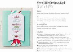 "Maria's Stamping Station: Stampin Up ""Merry Little Christmas"" Simply Created Card Kit Tutorial"