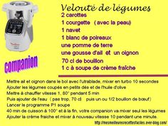 Velouté de légumes au companion How To Cook Rice, How To Cook Chicken, Cooking Chicken Thighs, Prep & Cook, Cooking Pork Tenderloin, Cooking Classes, Diners, Science Online, Cooking Rice