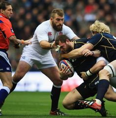 """I'm keeping ESPN Scrum's caption, because it is brilliant: """"England's Joe Marler presides over the breakdown."""""""
