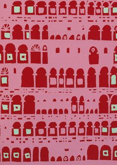 """""""Collonade"""" by Robert Nicholson  for Palladio Wallpapers, 1955. From V's The Fifties pattern book, via Dwell."""