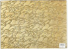 Nomi K Modern Artistic Glass Rectangle Placemat, Gold