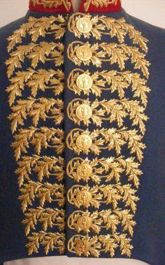 Dettaglio della giacca da capo chirurghi (assimilato a generale)