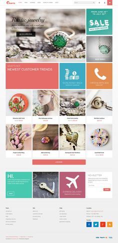 JM Crafts - Responsive Magento Theme for Craft Stores
