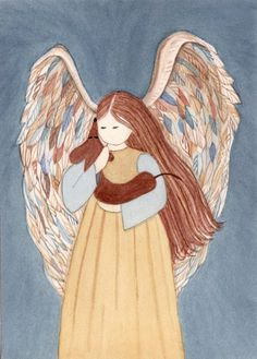 Brown shorthaired dachshund with Angel / Lynch by watercolorqueen