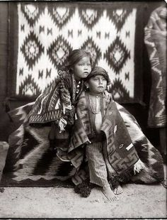 Adorable Navajo Sister And Brother In Colorado~Photo Taken By William Pennington In The Early 1900s...Awww They Look Sooo Frightened