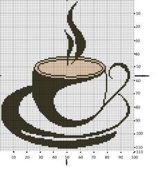 coffee cross stitch chart