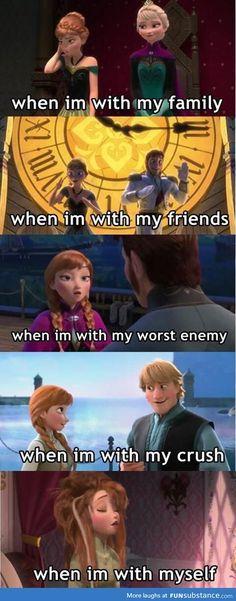 frozen memes Super Funny Disney Princess Memes So True Ideas Humour Disney, Funny Disney Jokes, Funny Jokes, Hilarious Quotes, Disney Memes Clean, Clean Memes, Funny Minion, Funny Facts, Funny Crush Memes