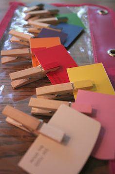 La Vida Leipprandt: Color matching with clothes pins.