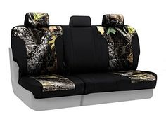Coverking Rear 6040 Bench Custom Fit Seat Cover for Select Ford Models  Neosupreme Mossy Oak Break Up Camo with Black Sides >>> AMAZON Great Sale