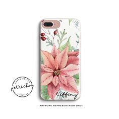 Flower Personalize Phone Case - iPhone 7 Case - iPhone 7 Plus Case - iPhone 6 Case - iPhone 8 Case - iPhone X Case - iPhone 8 Plus Case by PetrichorCases on Etsy Iphone 8 Plus, Iphone 7, Iphone Phone Cases, Personalized Phone Cases, Artwork, Etsy, Work Of Art
