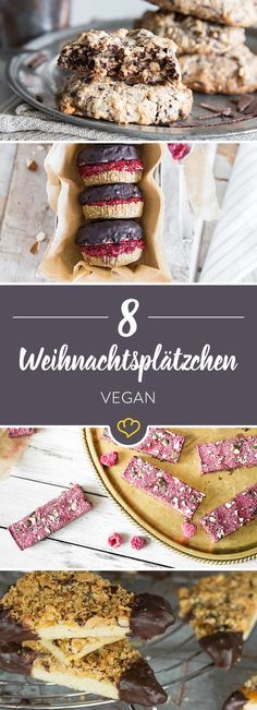 12 vegan cookies for Christmas & a crispy advent .- 12 vegane Plätzchen für Weihnachten & einen knusprigen Advent In the vegan Christmas bakery there are many delicacies. But no flour will find a chicken egg between flour and vegetable milk. Biscuits Végétaliens, Vegan Biscuits, Bolo Vegan, Cake Vegan, Vegan Christmas Cookies, Christmas Recipes, Christmas Christmas, Cookie Recipes, Vegan Recipes