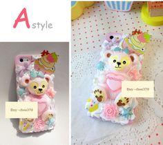 BABY TOYS:  Rilakkuma DIY Phone Case Deco Den Kit  & Free iPhone by chen370, $11.29
