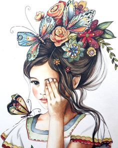 flowers in her hair.. by claudiatremblay on Etsy