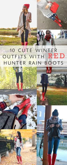 Hunter rain boots are all the rage this season, here are 10 cute outfits using the popular RED rain boot and how I saved money buying my boots!