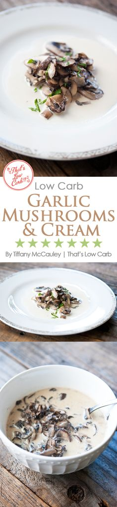 These delicious mushrooms are the perfect keto side dish for just about any main meat course. Yummy!!! ~ http://www.thatslowcarb.com