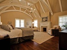 Love the design of the ceiling. #architecture #beams #bedroom