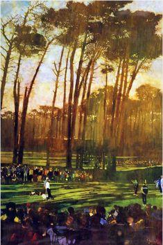Golfing by Bernie Fuchs