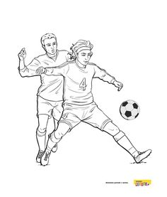 Piłka nożna - kolorowanki dla dzieci