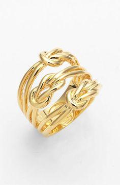 hercules knot ring. tory burch.