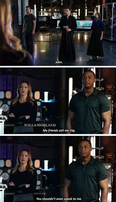 I love when Diggle gets to just shut people down and this was particularly impressive