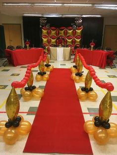 Balloon Tapers Hollywood Birthday Parties Theme Party Centerpieces Red Carpet