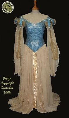 blue and gold medieval gown dress photo: www.rossetti.vispa.com This photo was uploaded by xmrsdanifilth