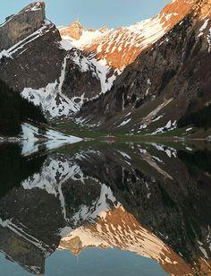 Seealpsee und Säntis, Appenzellerland