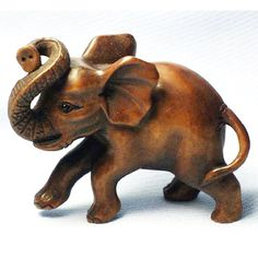 Wood Netsuke--Elephant