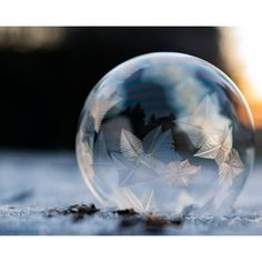 """8x10 Print """"Serenity a frozen bubble ($30) ❤ liked on Polyvore featuring home, home decor, disney home decor and disney"""