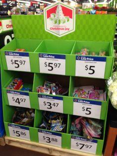 Walmart seasonal pallet display December 2014 #idealation #wmtpallets